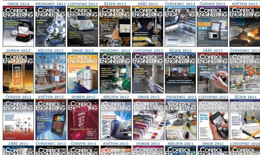 Control Engineering Česko, archiv 2006-2017
