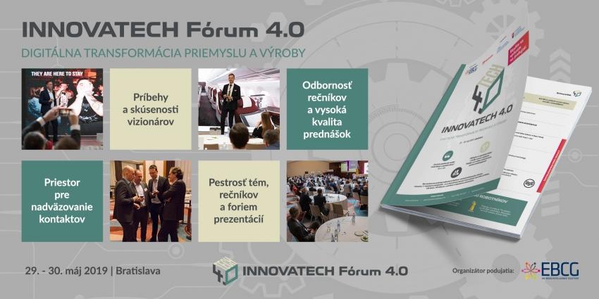Innovatech Fórum 4.0:Digitálna transformácia vo výrobe a priemysle