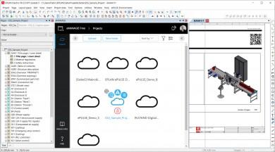 EPLAN eMANAGE: snadné nahrání, sdílení a správa projektů v cloudu