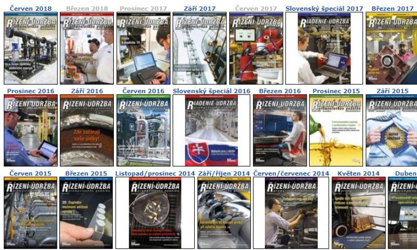 Řízení a údržba průmyslového podniku, archiv 2008-2017